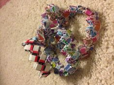 Candy wrapper bracelet