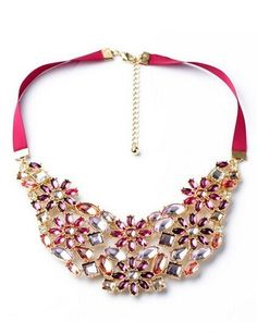 Stunning Pink Ribbon Multigem Necklace