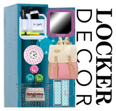 """Locker"" by miz-watermelon ❤ liked on Polyvore featuring interior, interiors, interior design, home, home decor, interior decorating, Emma Lomax, BackToSchool and lockerdecor"