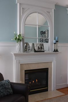 Traditional Family Room Fireplace Mantle Design, Pictures, Remodel, Decor and Ideas - page 4