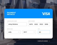 100 Days of UI is a challenge and a collection of UI elements created by designer Paul Flavius Nechita.I really like this payment detail page design challenge, many inspiration layouts made by participants. I like this one the most, since it is clean and readable. I would like to apply it to our park ticket purchasing page.