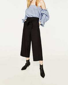 Image 2 of CROPPED TROUSERS from Zara