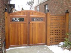 black iron decorative fence gate