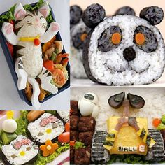 """""""sushi"""" art lesson using cotton, colored tissue, and electrical tape. Kids create a 'sushi roll' in the shape of an animal or character"""