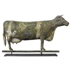 Rare Large Cow Weathervane | From a unique collection of antique and modern weathervanes at https://www.1stdibs.com/furniture/folk-art/weathervanes/