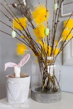 House No 465 Spring, Glass Vase, Easter, Lifestyle, House, Home Decor, Decoration Home, Home, Room Decor