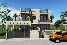 Modern 14 - House Designer and Builder 2 Storey House Design, Construction Contract, House Layouts, House Architecture, Floor Design, Small Houses, Exterior Design, House Plans, Floor Plans