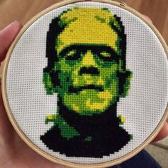 Cross Stitch Witches (idirntcare:   He's finally done!! #frankenstein...)