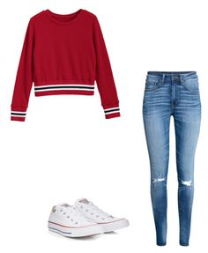 """""""Untitled #130"""" by taukaila on Polyvore featuring H&M and Converse"""