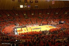 Assembly Hall at the University of Illinois at Urbana Champaign, home of the Fighting Illini Basketball Team