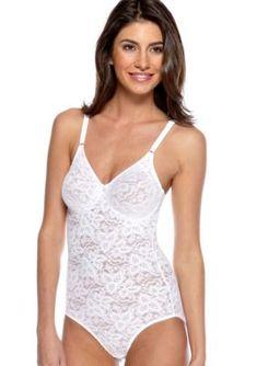 6f44186294029 Bali Women's Lace N' Smooth Firm Control Bodybriefer 8L10 - White - 40Dd  Braid,