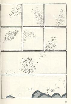 Kevin Huizenga, Murmuration of starlings from Curses - comics