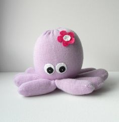 glove stuffed animals | Octopus, glove animal, stuffed toy, soft sculpture, Octavia