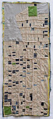 """Not such a pretty picture, but a pretty representation of one. This artist does """"foreclosure quilts"""", carefully reproducing what particular areas look like once they've been hit over the head by the depression. This particular quilt...Cleveland, a city close to my heart. Check out her page...."""