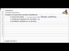 Variable estadística exemples (Qualitatives i Quantitatives: discretes  ocontínues)  - YouTube