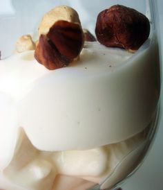 Yogurt Topped with Nuts