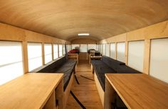 I like these window shades. 15 Creative Converted School Buses | Mental Floss