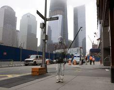 Liu Bolin, Hiding in New York, No.4 Ground Zero, 2011