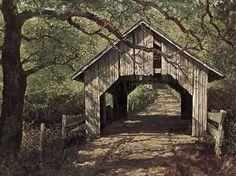 Fairfax Village Covered Bridge, Vermont by Eric Sloane