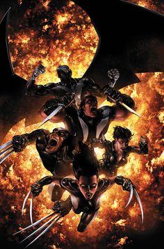 X-Force - Archangel, Warpath, Wolverine, Domino, & X-23
