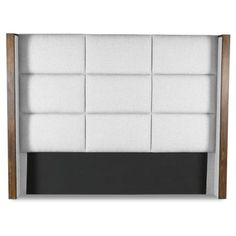 The South Cone Claire Square Tufted Upholstered Headboard allows you a simple way to change the entire look of your master or guest bedroom with one. Large Furniture, Wood Furniture, Tufted Headboard Queen, Sustainable Furniture, Furniture Manufacturers, California King, Bed Frame, Upholstery, Design