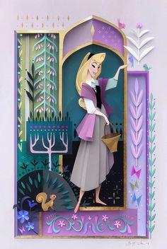 Briar Rose by Brittney Lee Arte Disney, Disney Fan Art, Disney Fun, Brittney Lee, Cut Out Art, Paper Illustration, Illustrations, Disney Sleeping Beauty, Briar Rose