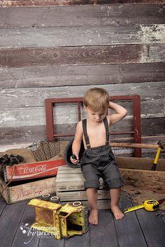 child, photography, boy, truck, vintage, rustic, suspenders, coca cola, mini session www.memoriesbyandrea.ca