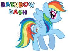 My Little Pony Rainbow Dash T Shirt Iron on Transfer Decal #1