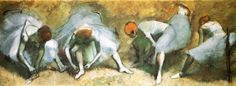 Dancers tying shoes, 1883 Edgar Degas - Style - Impressionism