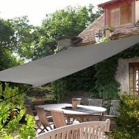 Voile d'ombrage rectangulairegris anthracite