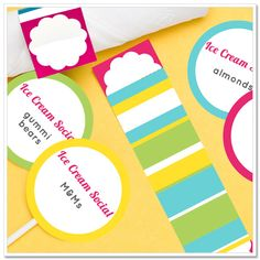 Plan an Ice Cream Social with Ice Cream Recipes, Free Printables.