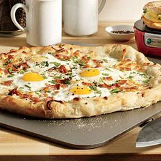 Eggs and Bacon Breakfast Pizza   CookingLight.com