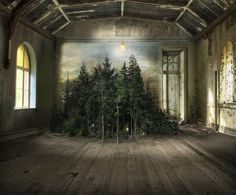 Photomontages That Trace Light Through Overgrown Countrysides and Abandoned Interiors | Colossal