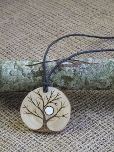 Ash Tree of life Pendant, Yggdrasil, Amulet, Talisman, OOAK, Pyrographed, Pagan, Magic, Wicca, Enchanted Etsy, Hedgewitch, by Touchwoodcraft on Etsy