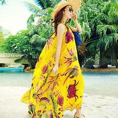 Women's Bohemian Maxi Beach Dress