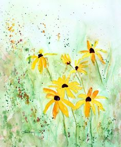 Black Eyed Susans Giclee on Canvas