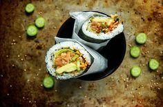 Spicy Salmon Sushirito - Heather Christo