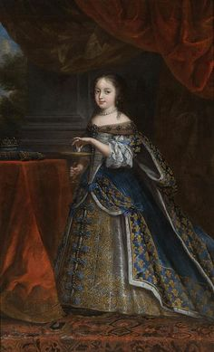 Henrietta, Princess of England, Duchess Consort of Orleans; c. 1661. Her father was Charles I, King of England. She was married to Philippe of France, Duke of Orleans.