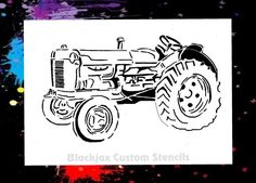 OLD Farm Tractor 02 Airbrush Stencil Template | eBay