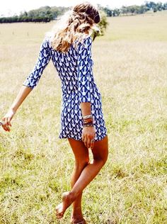 A nice patterned dress is all you need sometimes.