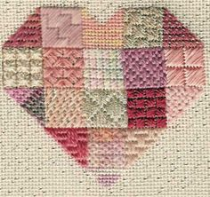 Needlepoint Small Stitches Index has over 100 stitches from Janet M Perry's popular heart projects classified. PDF also available.