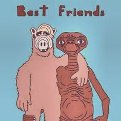 Best friends - #fanart #ALF #ET. Photo by deansouza