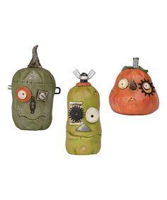 Look what I found on #zulily! Punked Pumpkin Figurine Set by Pumpkinseeds #zulilyfinds