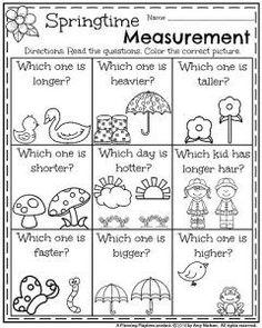 Spring Math Worksheets for Kindergarten - May Worksheets