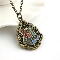Harry Potter Hogwarts House Crest Pendant Necklace