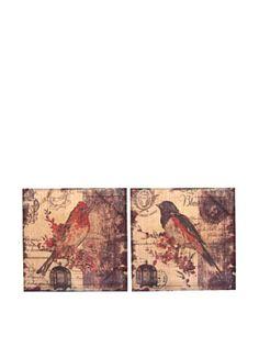 65% OFF Set of 2 Burlap Birds #home #Home