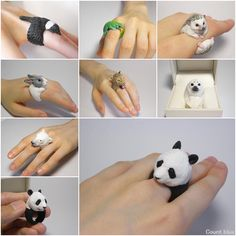 animal themed polymer clay jewelry wonderfuldiy2 Wonderful Handmade Polymer Clay Animal Rings