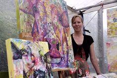 Kunstenaar Anita Ammerlaan. www.anitaammerlaan.com 1150m2 Bijzondere Kunst bij Atelier en Expositieruimte Kunstenaar Anita Ammerlaan, Markt 39 in Roosendaal.