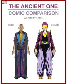 • THE ANCIENT ONE - COMIC COMPARISON • Okay. I dislike the fact the they changed her gender and all - accurate.mcu