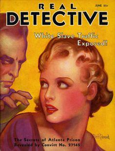 =-= 1932 Real Detective, True Crime, Pulp Fiction, Prison, The Secret, June, Magazine Covers, Contents, Magazines
